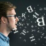 Stimme bildet verständliche Worte