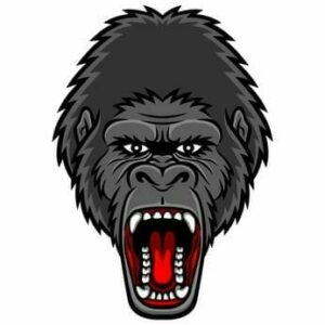 aggressiver Gorilla