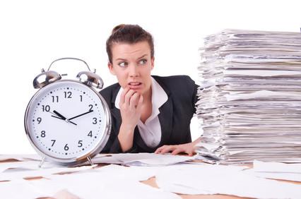 Aufwand - Zeit = Stress
